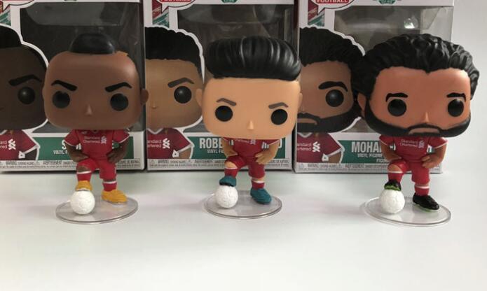 Funko pop Football Roberto Firmino &amp Mohamed Salah &amp Sadio Mane Vinyl Dolls Figure Model Toys