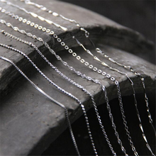 лучшая цена Hot Sale 925 Sterling Silver Link Chains Necklaces Fit For Pendant Charms Women Men Luxury Solid Silver 925 Jewelry Gift