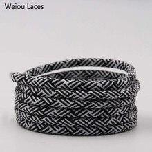 Эксклюзивные спиральные круглые шнурки Weiou 4,5 мм шириной, два цвета, прозрачные пластиковые шнурки