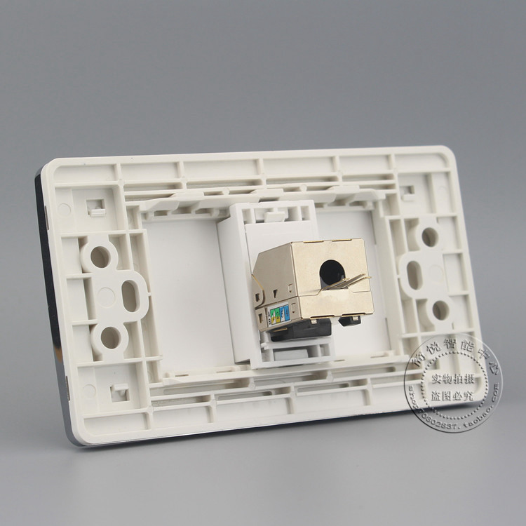 120MM Wall Socket Plate One Port Gigabit Shield CAT6 LAN Faceplate Outlet Adapter comfast full gigabit core gateway ac gateway controller mt7621 wifi project manager with 4 1000mbps wan lan port 880mhz cf ac200