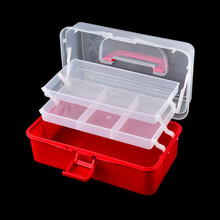 Hand held Desktop Nail Art Empty Storage Box Plastic Scissors Makeup Organizer Jewelry Nail Polish Container Manicure Tool Case