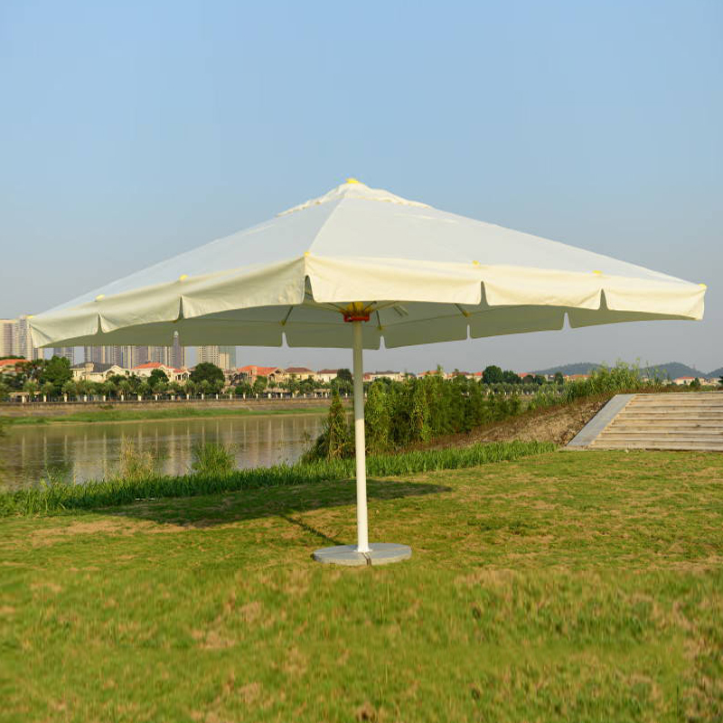 5 meter square deluxe aluminum big outdoor patio sun umbrella parasol sunshade furniture covers with cross bar