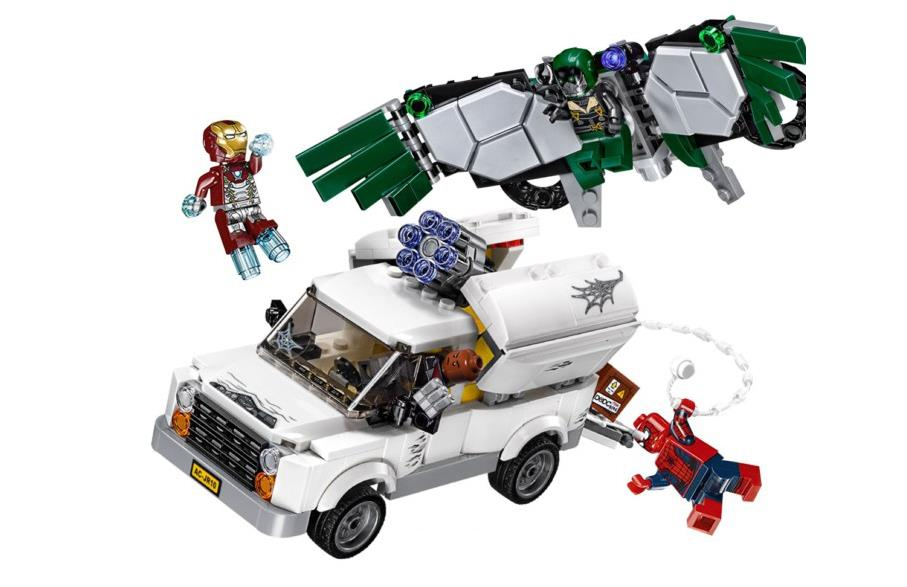 SpiderMan Heroes Homecoming Building Blocks Compatible with Lego DIY Educational Bricks toys gift Compatible With  76083 heroes