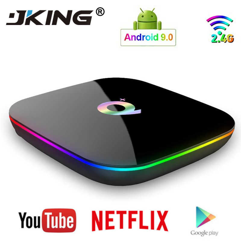 Q Plus Smart TV Box Android 9.0 TV Box 4GB Ram 32GB 64GB Rom 6K H.265 USB3.0 Netflix Allwinner H6 PK T95Q s905x2 Set Top Box