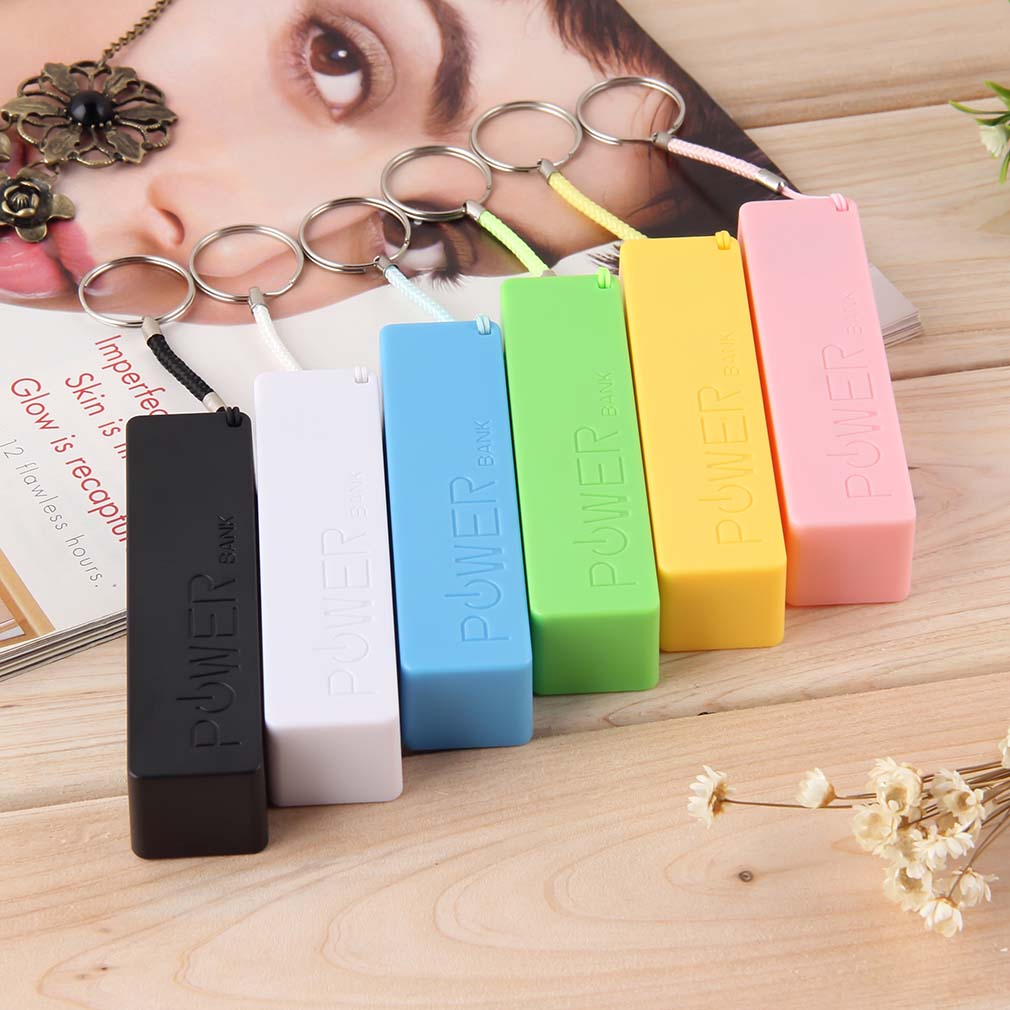In Style; Mobile Power Case Box Usb 18650 Battery Cover Keychain For Iphone For Samsung Mp3 Drop Shipping Fashionable