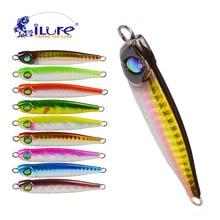 iLure Metal Jigging Spoon 33g 3D Eyes Artificial Pesca Lures Fishing Boat Jig Hard Lure Bait Locks Super hard lead Carp bait