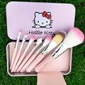 7 pçs/set novo estilo Olá Kitty mini pincéis de maquiagem e beleza bonito pincel de blush maquiagem profissional