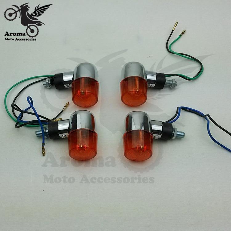 2 pcs motorcycle turn signal indicators universal accessories motorbike flashers parts motocross Turn signal light moto flashing