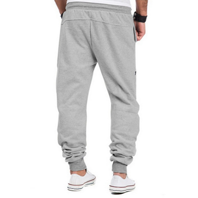 CALOFE Mens Fitness Sport Training Jogging Runnning GYM Sports Pants Drawstring Zipper Male Sweatpants Loose Full Legth Pants
