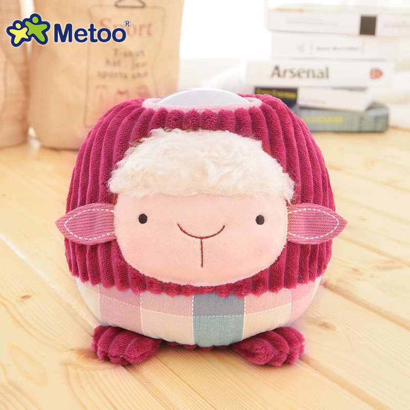 Metoo Plush Lovely Sheep Nightlight LED Toys Household Bedside Lamp Baby Child Like Doll for Kid Birthday Gift