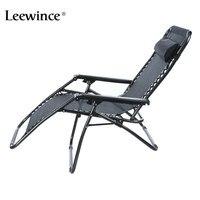 Leewince Folding Zero Gravity Reclining Lounge Portable Garden Beach Camping Outdoor Chair Sun Loungers