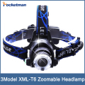 4000Lm CREE XML T6  LED Headlight Headlamp zoomable  Head Lamp waterproof Light Adjust Focus  for fishing Lights