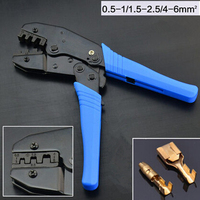 Pin terminal  Crimping Tool High-Carbon Steel Crimping Plier  0.5-1/1.5-2.5/4-6mm Square Crimpe For Dupont