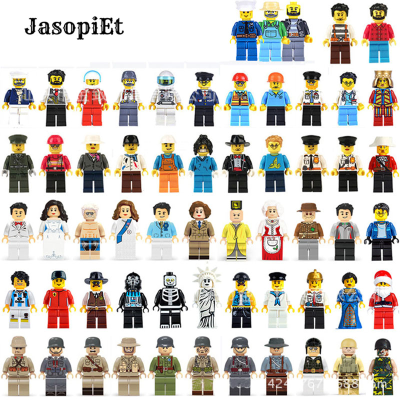 12pcs/lot Model Building Block Military City Worker Action Figures Set Baby Educational Learning Toy Compatible With Legoings
