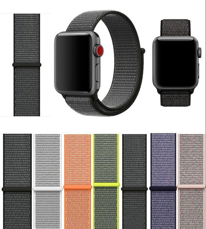 50PCS Lightweight Breathable Nylon Sport Loop Band for Apple Watch Series 3 2 1 42MM 38MM