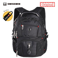 Swisswin Laptop Backpack Men S Brand Backpack Classic Male Travel Backpack Waterproof Nylon School Bags For