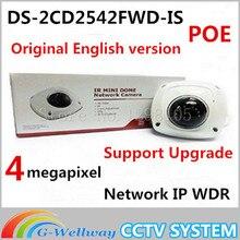 Оригинальная английская версия DS-2CD2542FWD-IS заменить 4MP Мини Купольная Сетевая DS-2CD2532F-IS IP CCTV Встроенный Микрофон Камеры DS-2CD2542FWD-IS