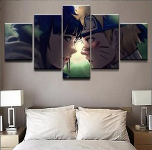 5 Pieces One Set Naruto Uzumaki And Girls Canvas HD Prints Painting  Anime Poster For Modern Home Wall Art Decor Bedroom Artwork