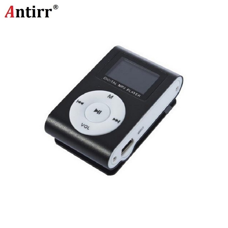 Metal USB MP3 Music Media Player Support 32GB Micro SD TF Card Mini Clip Mini Fashion for Runnning Reading Best Gift freeing
