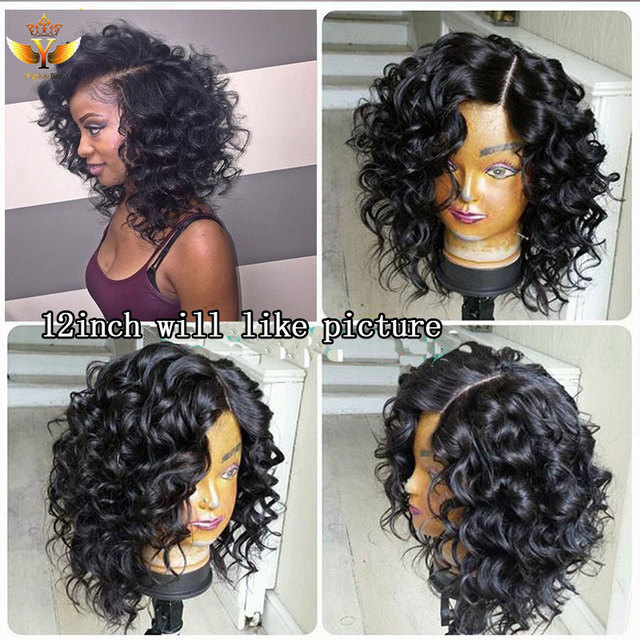 Srt Lace Front Human Hair Wigs For Black Women Curly Human Hair ...