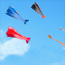 Software Dolphin Kite Outdoor Fun Sports 3D Software Beach Nylon Kites Waterproof Portable Flying Toy For Children Adult