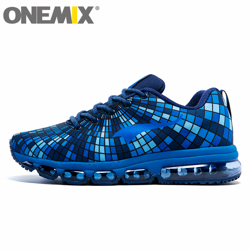 New onemix Free Cushioning Running Shoes for Men Breathable Mesh Female Sneakers Lady Trainers Walking Outdoor Sport Comfortable new hot sale children shoes comfortable breathable sneakers for boys anti skid sport running shoes wear resistant free shipping