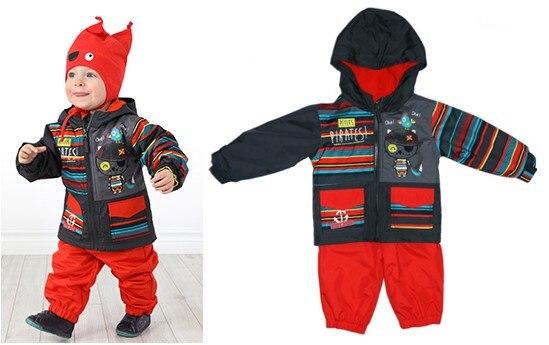 Enfant en bas âge/bébé garçons ensemble de vêtements, bébé garçons coupe-vent/imperméable costume, bébé printemps ensemble de vêtements, automne costume, taille 9 M à 2 T