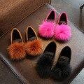 Обувь на меху для девочек  мягкая повседневная обувь для детей среднего и большого размера  2020