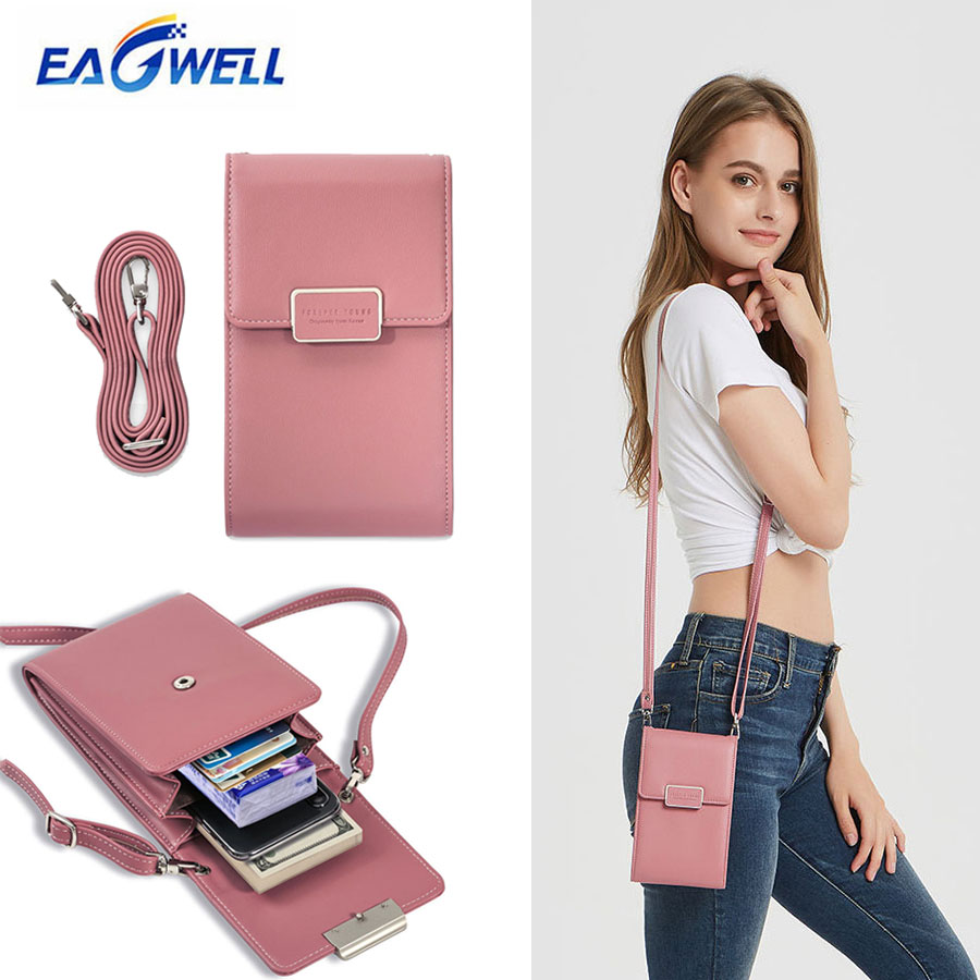 Mini Women Shoulder Bag Wallet Card Slot Phone Bag Fashion Leather Messenger Bags Lady Girls Small Cross Body Bag Handbag Pouch