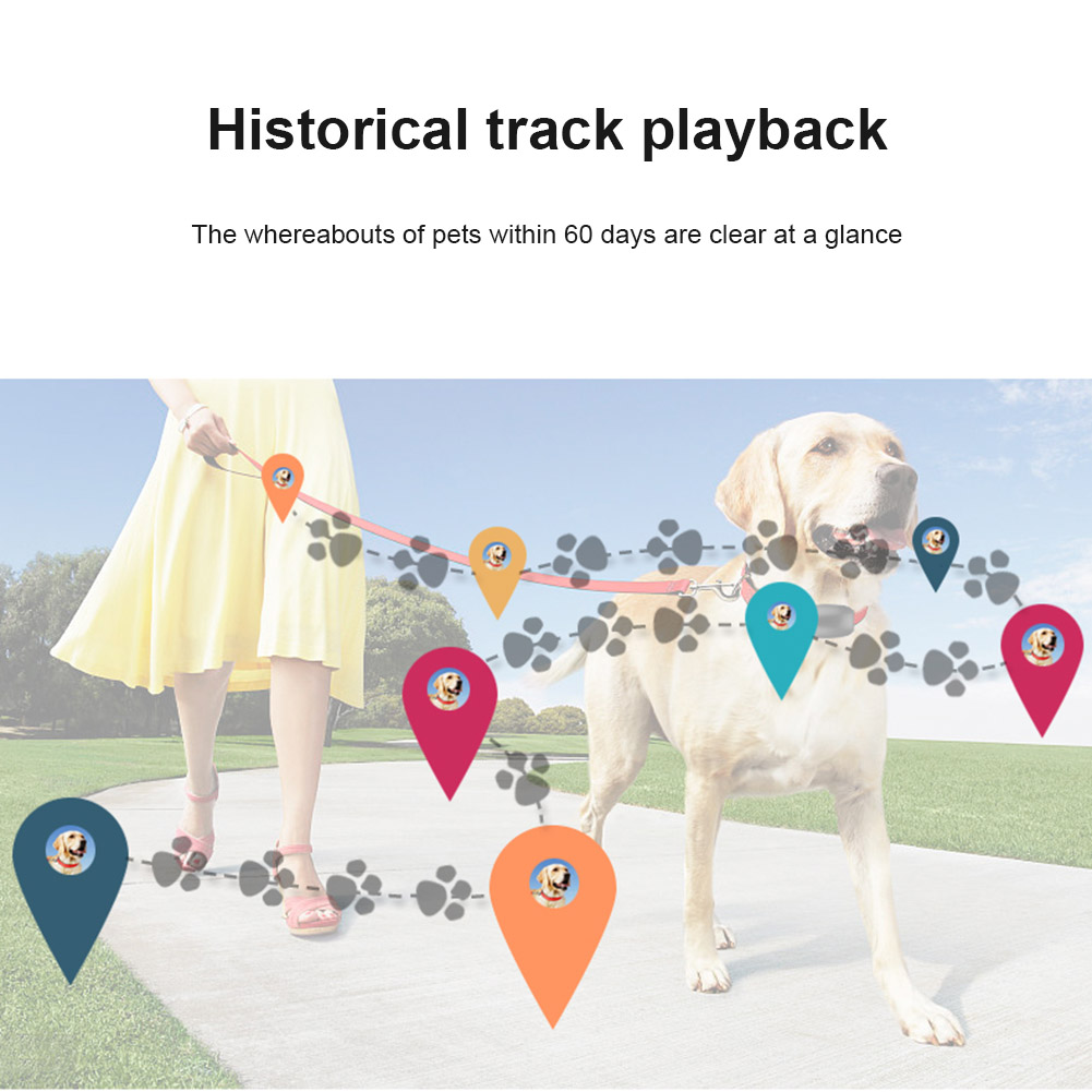 Hot Sale Pet Dog Cat GPS Tracking Locator Collar Real Time Waterproof Mini Smart Anti-lost