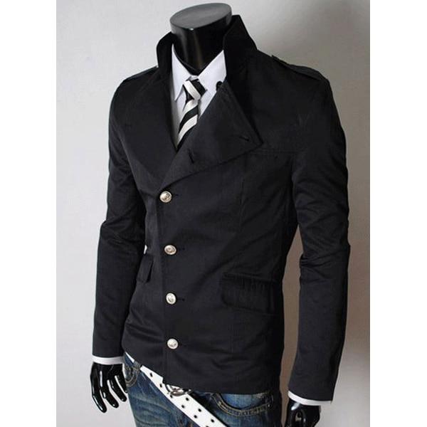 Traje de chaqueta de cuello mao