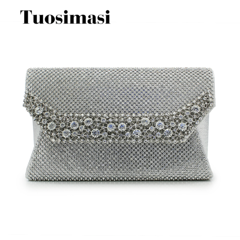 New Woman Evening bag Women Diamond Rhinestone Clutch Crystal Day Clutch envelope Wedding Purse Party Banquet Handbags(C1069) excelsior new arrival day clutches bag purse clutch handbags shiny ultrathin women evening party bags gold sequins envelope bag