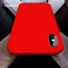 Oppselve Luxury Liquid Silicone Phone Case For iPhone Xs Max Xr X Microfiber Cover 8 7 6 6S Plus Coque Capinhas 2019