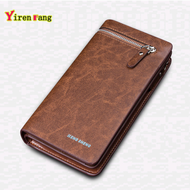 mens wallets and purses 2016 wallet leather fold money clip famous brand clutch zipper credit portefeuille homme