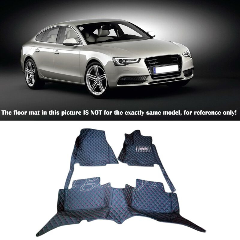 Interior Molding Floor Mats&Carpets Foot Pad Protector For Audi A5 8T 4dr 2010 2011 2012 2013 2014 2015 2016 10 13 for audi a3 8v quality leather mats inner carpet foot mat 2010 2011 2012 2013