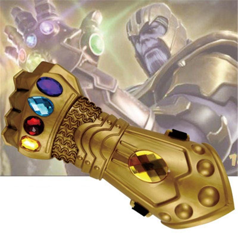Marvel Мстители 3 Возраст Альтрона Халка черная Widow Vision Ultron Железный человек Капитан Америка Фигурки Модель игрушки - Цвет: Thanos glove