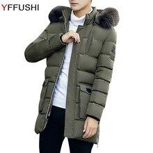 YFFUSHI 2017 New Arrival Winter Jacket Men 4 Colors Parka Jackets Men With Furry Hat Winter Coat Fashion Design