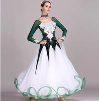 New luxury green rhinestones Ballroom dance competition dress standard dresses modern dance costume ballroom waltz dress