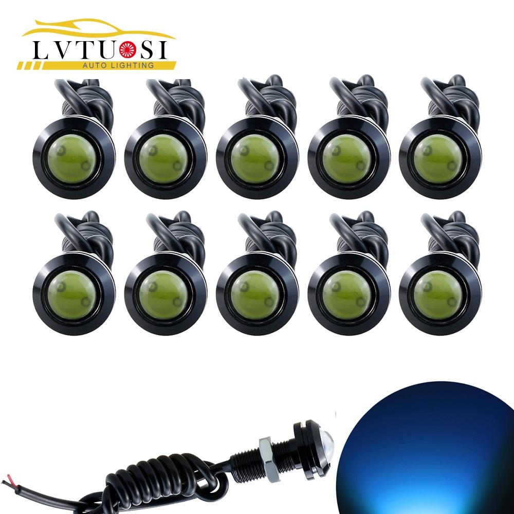 LVTUSI 10db nagy fényerejű DRL 18 mm-es sasszem Nappali menetjelző - Autó világítás