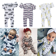 Baby Romper Cloud Raindrop Print Cotton onesie Newborn Boy rompers Girl Clothes Infant Baby Clothing Long Sleeved modis Jumpsuit цены онлайн