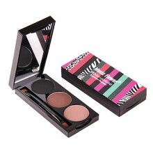 Music Flower Brand Makeup Eyeliner powder & Eyebrow Powder Palette 3 In 1 Brown Black Waterproof  Eye Brow Enhancers