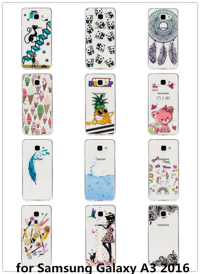 Pretty Diverse 12 Patterns TMD+TPU Soft Phone Cover Cases For Samsung A3 A5 2016 A3 A5 2017 Anti-proof Phone Case