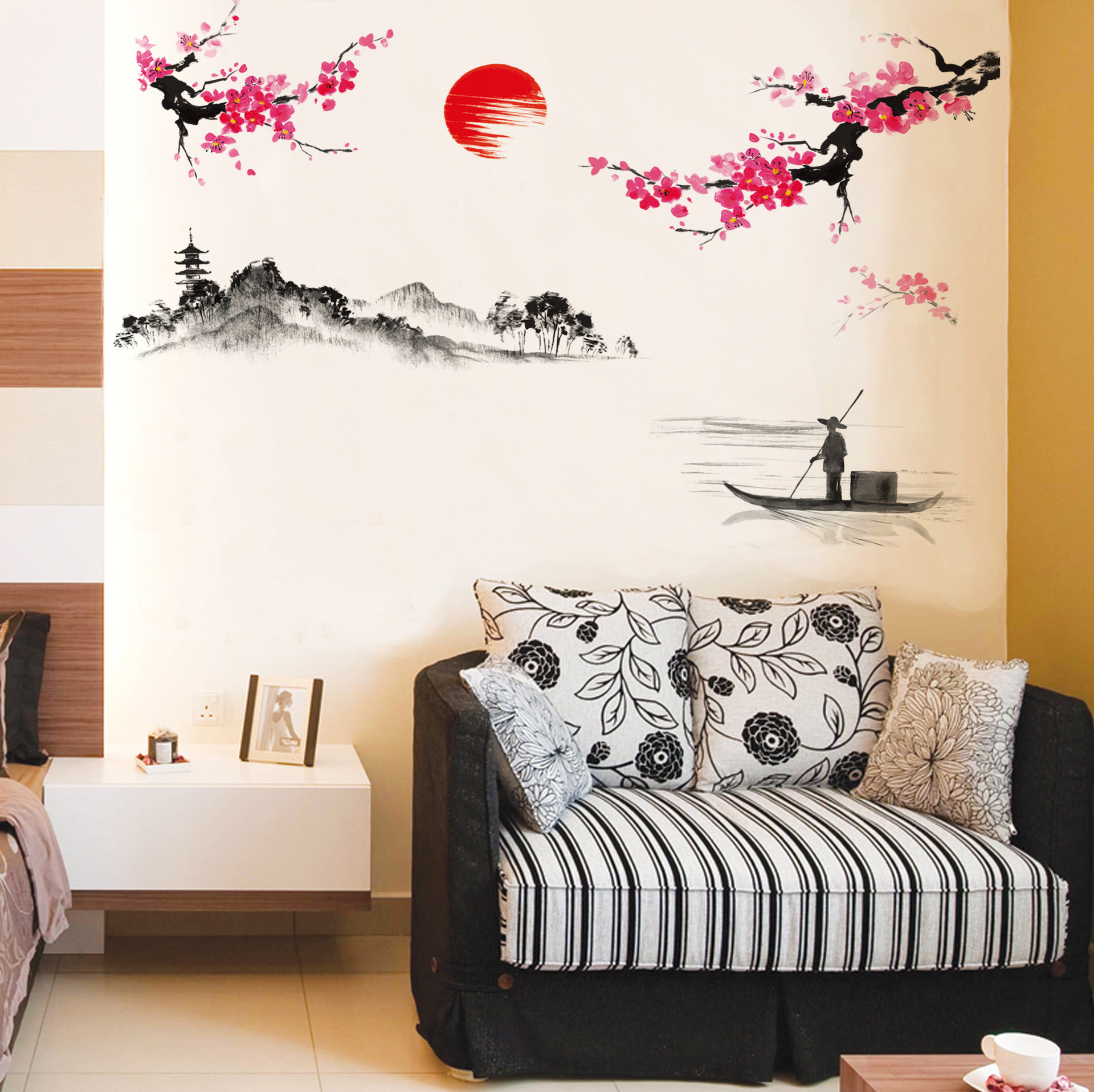 120150cm Diy Chinese Style Red Plum Flower Vintage Poster Wall