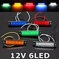 1 UNIDS 12 V 6 LED Indicadores direccionales Luces Lámpara del Freno de la Señal de Marcador Lateral Del Coche Camión de Remolque Rojo Verde Blanco Amarillo azul