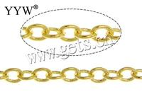 Free shipping!!! Length 100m Sold By Lot Brand gold color plated nickel lead cadmium free 2.50x2x0.30mm Brass jewelry Oval Chain