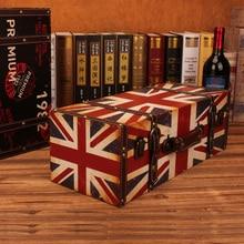 PU leather Shabby Chic  Luggage suitcase Wall Clothing Store Shelves Retro Bar Cafe  Shop Window  Decoration Q-2 q shop