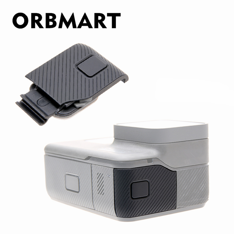 ORBMART Side Cover Door Case Replacement USB-C Micro-HDMI Port Protector Substitution For Gopro Hero 5 6 Original Camera