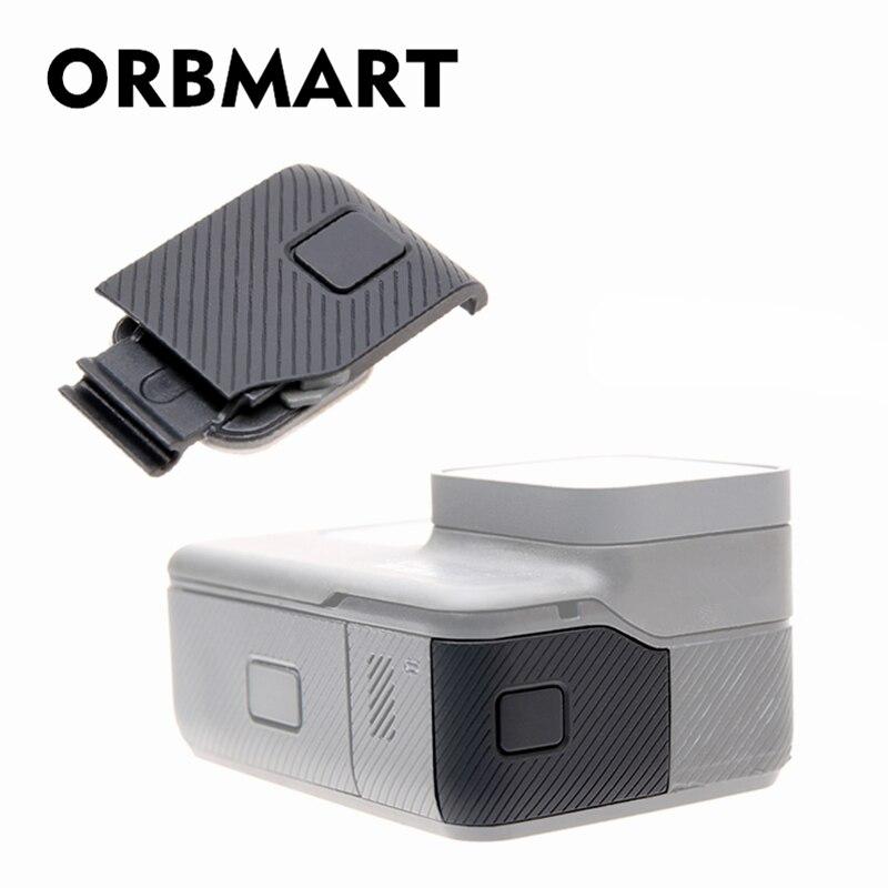 ORBMART Côté Couverture de Remplacement de Cas Porte USB-C Micro-HDMI Port Protecteur Substitution Pour Gopro Hero 5 6 7 D'origine caméra