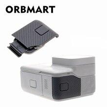 ORBMART pokrywa boczna drzwi wymiana obudowy USB C mikro port hdmi Protector zastąpienie dla Gopro Hero 5 6 7 czarny oryginalne do kamery