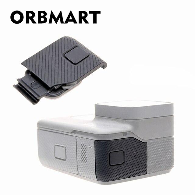 Orbmart capa lateral de substituição, porta de micro hdmi USB C substituição protetor para gopro hero 5 6 7 preto câmera original da marca